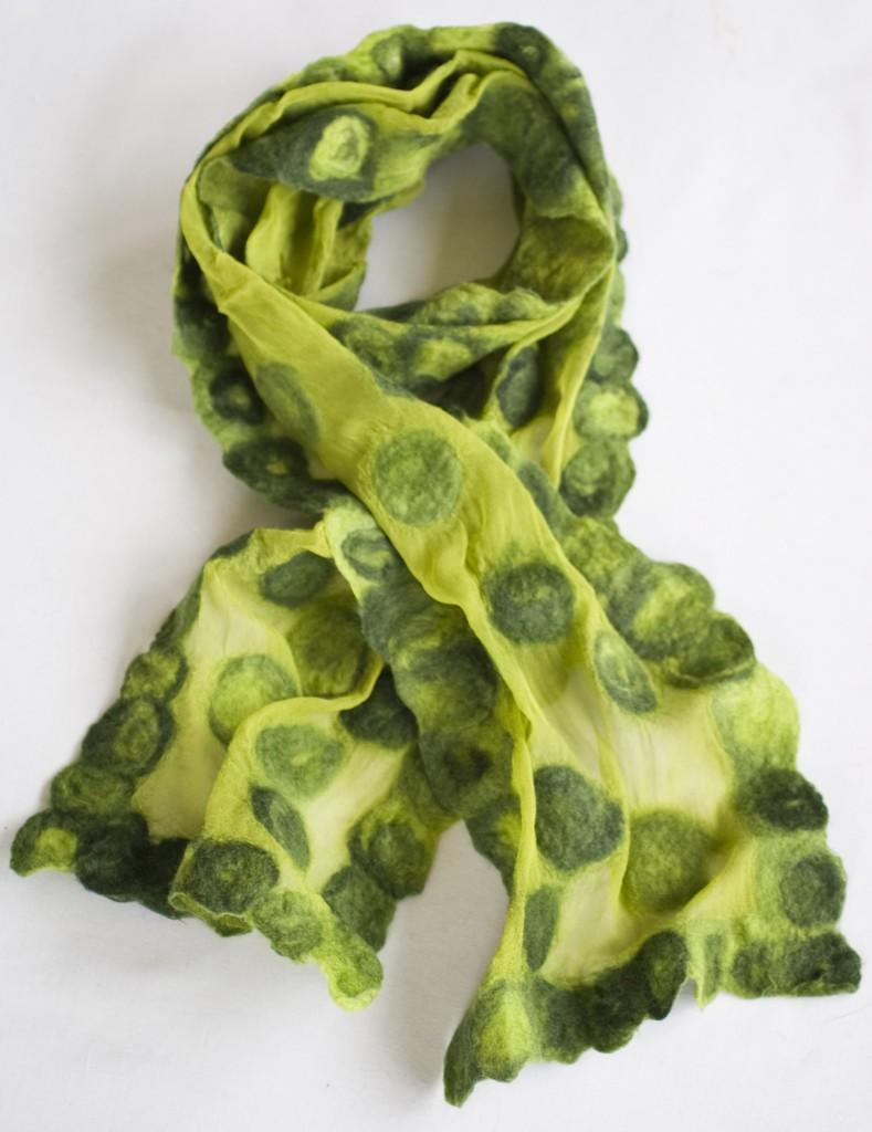 Grøn chiffon